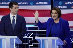 Pete Buttigieg a Amy Klobucharová
