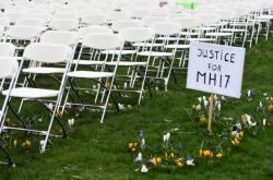 Protest pozůstalých po obětech letu MH17