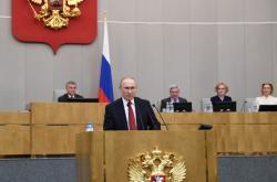 Ruský prezident Vladimir Putin hovořil k poslancům