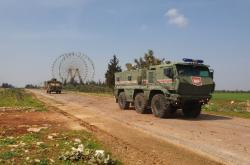 V Idlibu začali hlídkovat Turci společně s Rusy