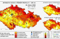 Intenzita sucha vČesku k19. dubnu 2020