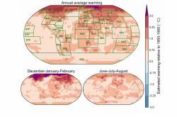 Změna teploty v období 2006-2015 ve srovnání s obdobím 1850-1900