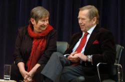 Zdena Tominová a Václav Havel (2008)