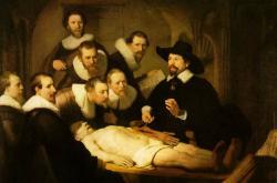 Obraz Anatomie doktora Tulpa od Rembrandta