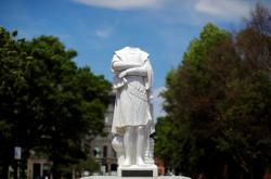 Bostonská socha Kryštofa Kolumba přišla o hlavu