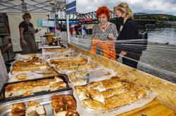 Prodej pečiva na farmářských trzích