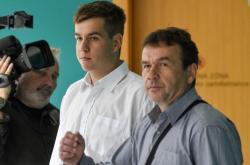 Jeden z obžalovaných Štěpán Černín (uprostřed)