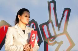 Kandidátka na běloruskou prezidentku Svetlana Cichanouská