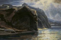Vyšehrad na malbě Julia Mařáka