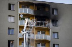 Panelový dům v Bohumíně, kde při požáru zahynulo 11 lidí