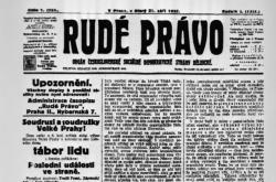 První vydání Rudého práva z roku 1920