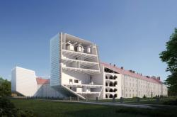 Rekonstrukce pražské Invalidovny (vizualizace podle návrhu architekta Petra Hájka)