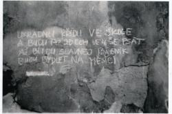 Zeď Maltézské zahrady, 1979