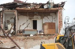 Následy zemětřesení ve městě Petrinja