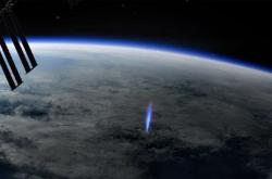 Vizualizace výboje sledovaného z ISS