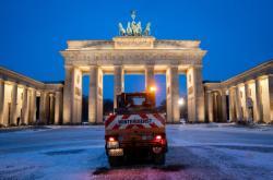 Se sněhem se potýkaly i úklidové služby v Berlíně