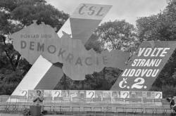 Předvolební poutače do voleb do Ústavodárného národního shromáždění v roce 1946