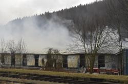 Požár v průmyslové zóně v Chrastavě
