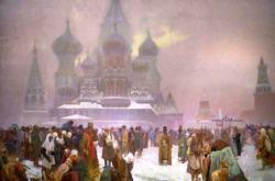 Zrušení nevolnictví se také stalo náměstem jednoho z pláten Slovanské epopeje Alfonse Muchy