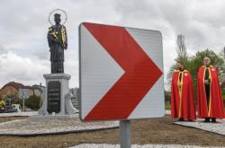 Odhalení sochy sv. Jana v Nepomuku