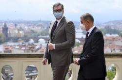 Andrej Babiš se srbským prezidentem Aleksandarem Vučičem
