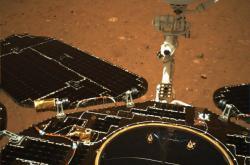 První snímky čínské sondy na Marsu