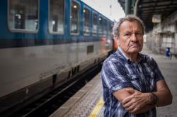 Miroslav Krobot při natáčení filmu Šnajdr