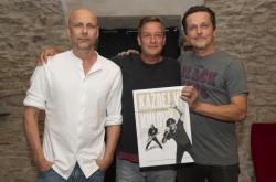 František Táborský, Michal Malátný a režisér Pavel Bohoněk (uprostřed)
