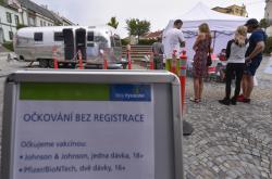 Mobilní očkovací karavan pro neregistrované zájemce