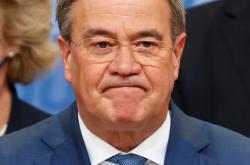 Předseda CDU Armin Laschet po oznámení prognóz