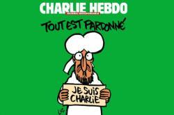 Obálka prvního čísla časopisu Charlie Hebdo po krvavých atentátech