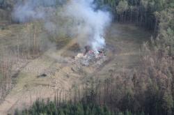 Místo po výbuchu skladu ve Vrběticích