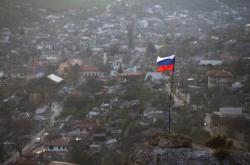 Ruská vlajka na Krymu