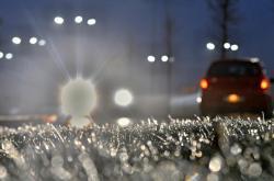 Ledovka při okrajích cest