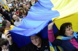 Ukrajinci v Česku slavili výročí nezávislosti své vlasti