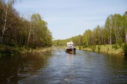 Část průplavu Dunaj - Odra v Polsku