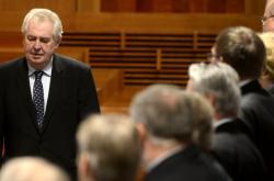 Prezident Miloš Zeman v Senátu