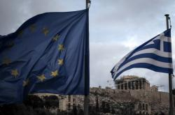 Vlajka EU a Řecka