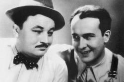 Jan Werich a Jiří Voskovec