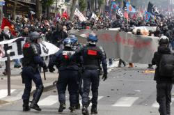 Jedna z odborářských demonstrací