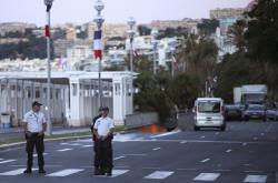 Policie na místě útoku v Nice