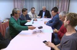 Koaliční  partneři v hotelu u brněnského výstaviště podepsali memorandum o budoucí spolupráci
