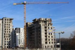Výstavba bytových domů Marina Island u pražského Libeňského mostu