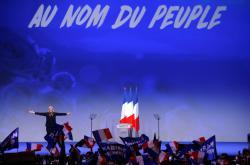 Předvolební kampaň Marine Le Penové