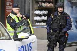 Švédská policie na místě útoku