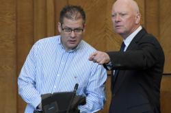 Petr Kušnierz a Pavel Kouda před soudem