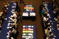 Sčítání hlasů v obvodu Kensington