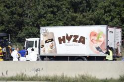 Chladírenské vozidlo, ve kterém se udusilo 71 uprchlíků