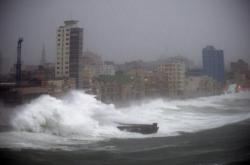 Hurikán Irma v Havaně