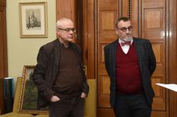 Mediátor sporu Vladimír Špidla (vlevo) a zástupce prostějovského magistrátu Marek Perůtka